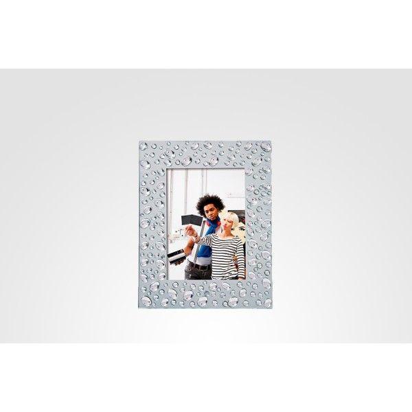 Porta retrato bolhas para fotos 13x18, Medidas: 25,7 x 20,1cm  Cor: Prata,  Peso: 0,800