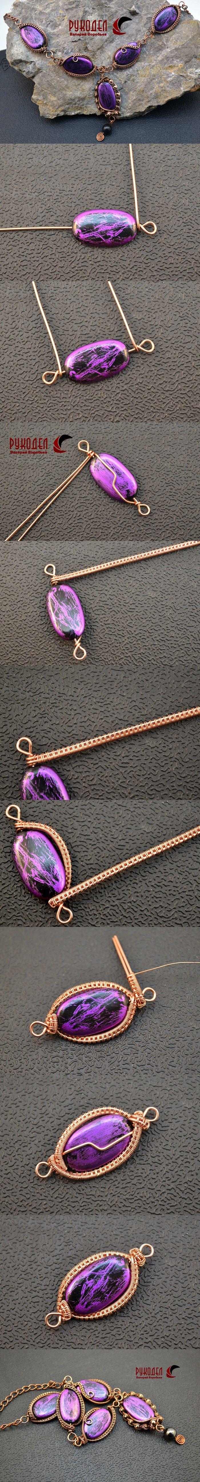 Ожерелье своими руками. Оплетаем бусину проволокой. | Рукодел - http://magazin-rukodel.ru/: