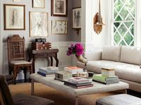 1000+ images about Living room redo on Pinterest   Fireplaces, Upholstered coffee tables and Ottomans