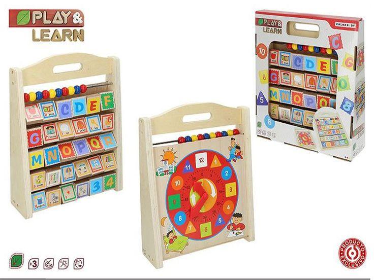 #juguetes #juguetesdemadera #juguetesseguro #juguetesreloj https://www.catayhome.es/categoria/juguetes/