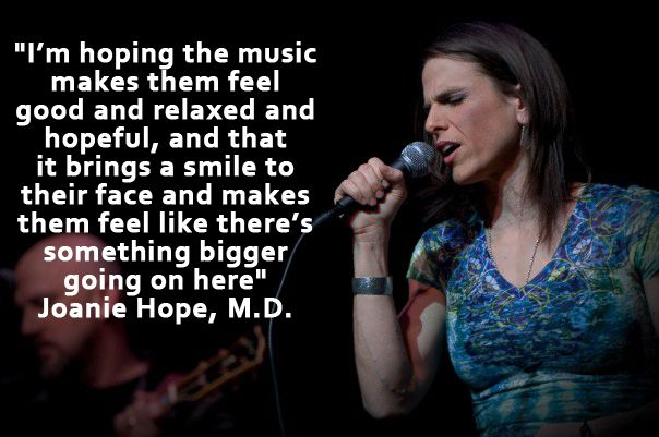 Joanie Hope is a Gynecologic Oncologist at the Denali ObGyn Clinic in Anchorage, Alaska.  She is also Director of GynOncology at Providence Alaska Cancer Center, and lead vocalist of N.E.D.