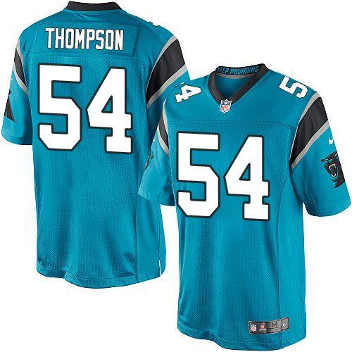 Nike Limited Shaq Thompson Blue Youth Jersey - Carolina Panthers #54 NFL Alternate