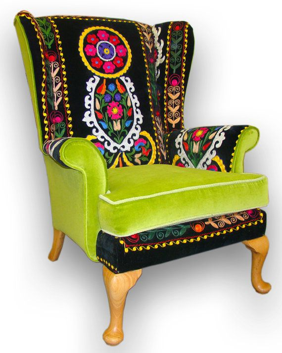 Hey, I found this really awesome Etsy listing at https://www.etsy.com/listing/158764890/suzani-patchwork-parker-knoll-armchair