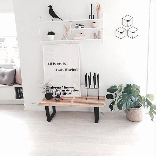 Ik kan onmogelijk al deze zaken opnemen in mijn kamer aangezien ze te klein is. Deze foto weerspiegelt echter perfect welke stijl ik qua decoratie wil bereiken!
