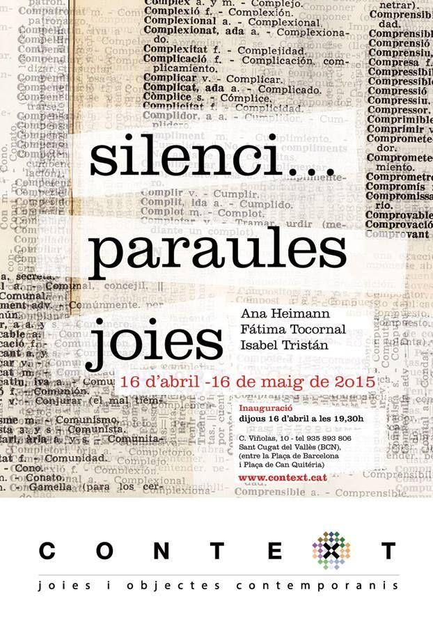Context Galeria - Fatima Tocornal, Isabel Tristan & Ana Heimann - 16 avril-16 mai 2015