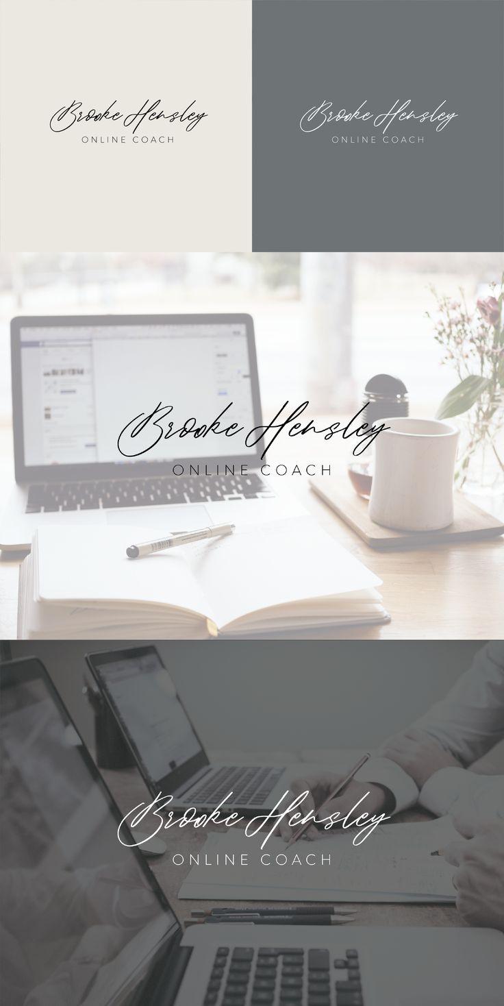 Premade signature logo design feminine logo, elegant