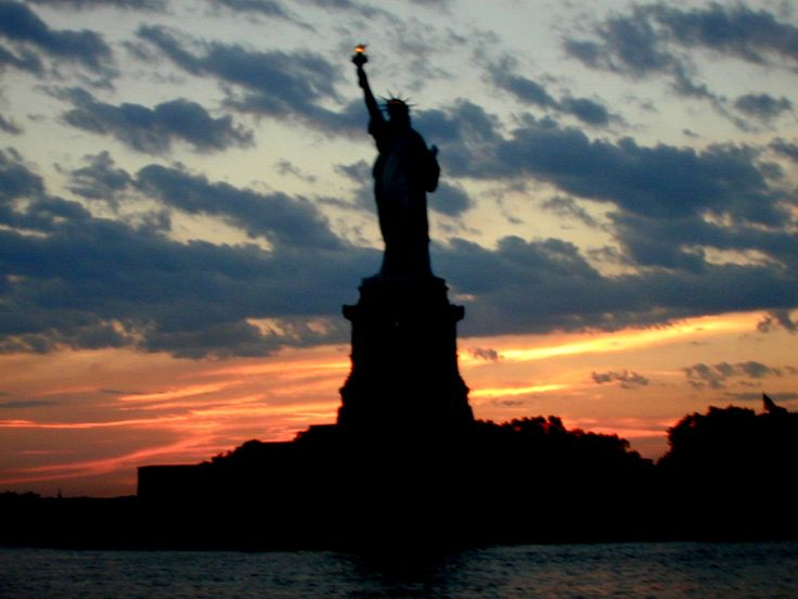 Silouette of Statue of Liberty