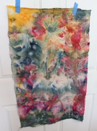 Iced dyed fabric - Mine came out pale but I didn't wait the full 24 hours~ Jean