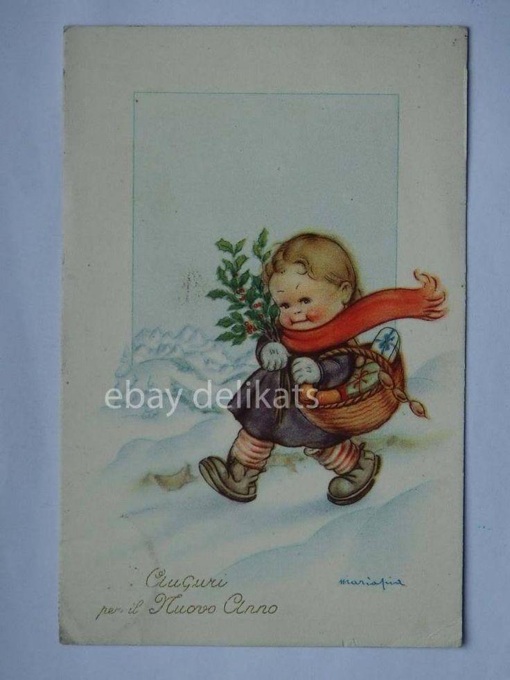 MARIAPIA TOMBA Auguri per il Nuovo Anno vecchia cartolina Bambina Maria Pia | eBay