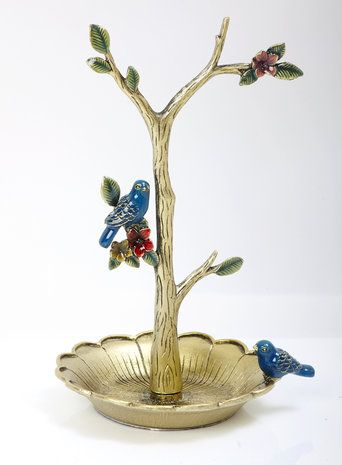 Pewter Jewellery Tree With Birds Decorating Ideas