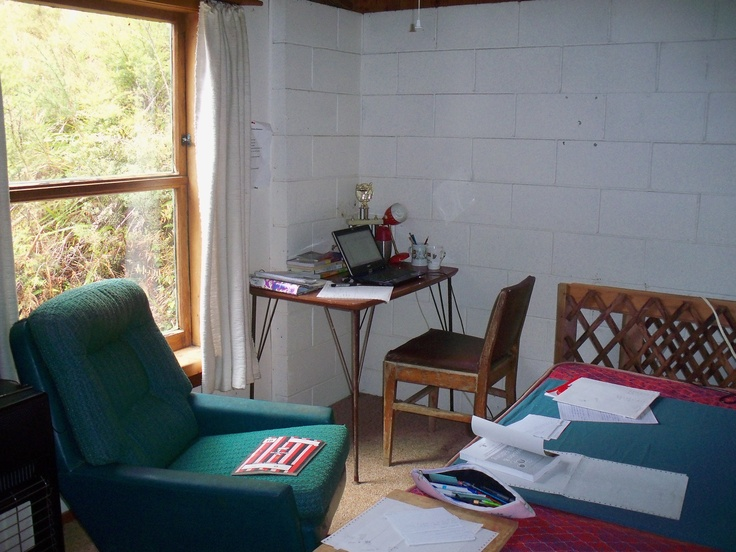 My writer cave in our holiday bach. www.traceyalvarez.com