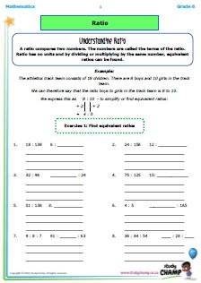 Workbooks - Grade 6 - Mathmatics : Grade 6 Mathematics: Ratio & percentage workbook