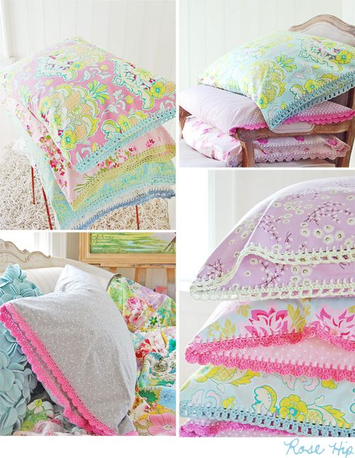But these pillowcases… yes, they make me want to escape to a sweet little spot where I can cook and craft and just be in the moment.