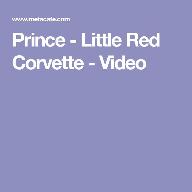 Prince - Little Red Corvette - Video