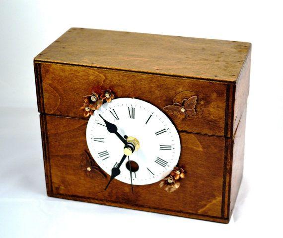 1000 ideas about handmade mantel clocks on pinterest clocks vintage clocks and wall clocks - Steampunk mantle clock ...