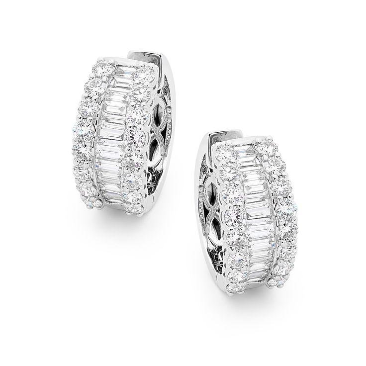18ct white gold diamond huggies  #diamonds #diamondsinternational #diamondjewellery #huggies
