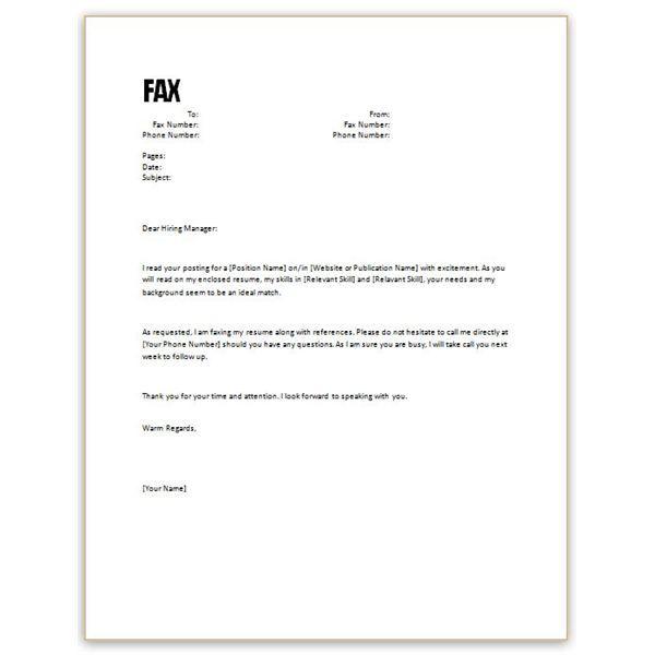 Free Resume Cover Letter Sample