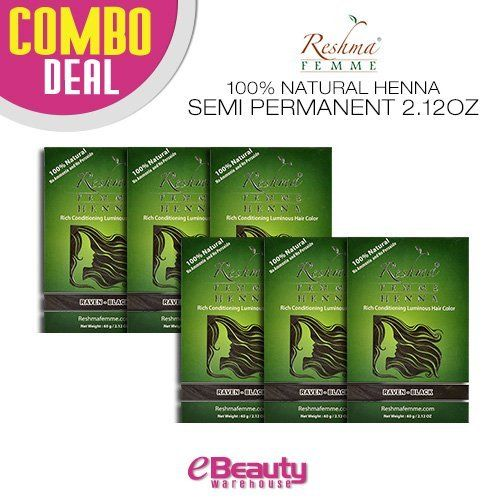 Reshma Henna Semi Permanent Color Natural Black