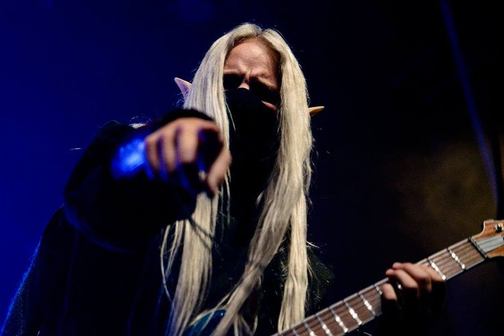 Aerendir - Twilight Force ⚫ Photo from Byscenen FB page ⚫ Trondheim 2016 ⚫ #TwilightForce #music #metal #concert #gig #show #musician #Aerendir #guitar #guitarist #elf #performing #playing #mask #wow #warcraft #anime #tabard #bracers #dragon #fire #castle #blond #longhair #festival #photo #fantasy #magic #cosplay #larp #man #onstage #live #celebrity #band #artist #performing #Sweden #Swedish #Byscenen #Trondheim