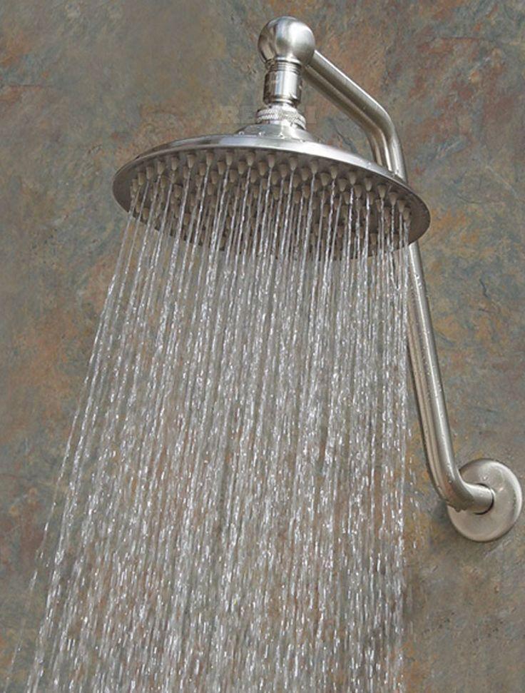 Atlantis 10  Rain Shower Head  155 00Best 25  Bathroom shower heads ideas on Pinterest   Small bathroom  . 10 Inch Rain Shower Head. Home Design Ideas