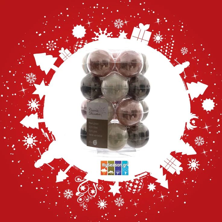 Photo: Τα #Χριστούγεννα πλησιάζουν και ήδη έχουν αρχίσει να στολίζονται τα δέντρα! Στο #MySeason θα βρείτε μια πολύ μεγάλη ποικιλία από στολίδια και μπάλες, για κάθε γούστο και κάθε διακοσμητική ανάγκη! Σας παρουσιάζουμε σετ Χριστουγεννιάτικες μπάλες 20 τεμαχίων σε φανταστικά χρώματα: https://goo.gl/ELlM9D   #christmas #christmas2016 #christmasshopping #christmasdecor #xmasdecor #holiday #festiveseason