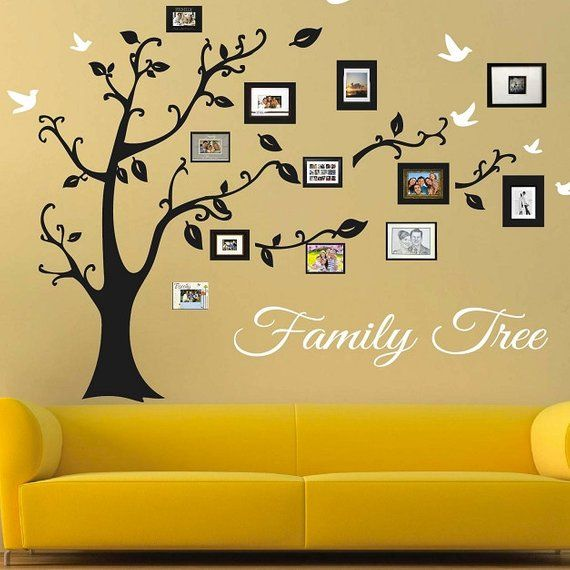 Family Tree Wall Decal Picture Frame Wall Decals Living Room Trees