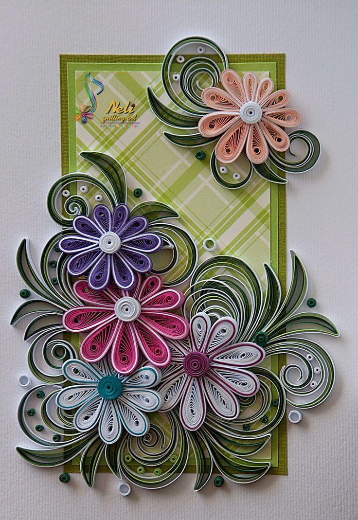 Summer: Quilling card /14.8 cm- 10.5 cm/ - Neli