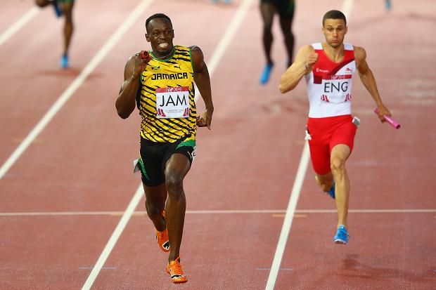 Jamaica win 4x100 gold, courtesy of Usain Bolt, but England take silver