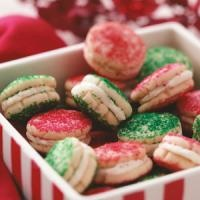 ...could use vanilla wafers: Christmas Food, Christmas Cookie Recipes, Christmas Cookies, Cookie Exchange, Cookies Recipe, Sandwich Cookies, Sugar Cookie