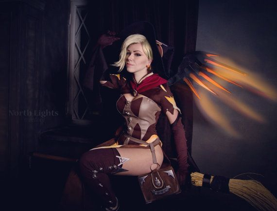 Mercy Witch Overwatch Halloween cosplay by NorthLightsMastery