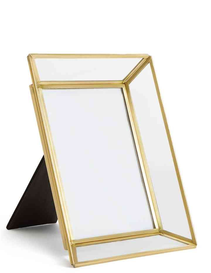 Glass Brass Photo Frame 12 X 17cm 5 X 7 Inch M S Brass Photo Frame Mirrored Picture Frames Photo Frame