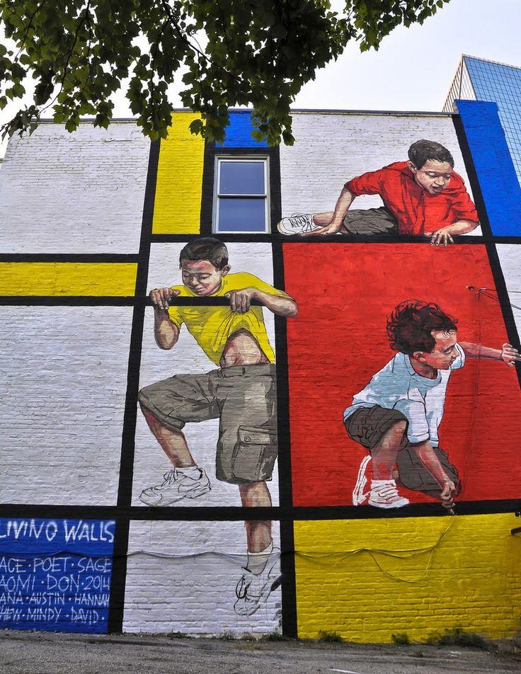 Ernest Zacharevic // Living Walls 2014 #StreetArt #Murals