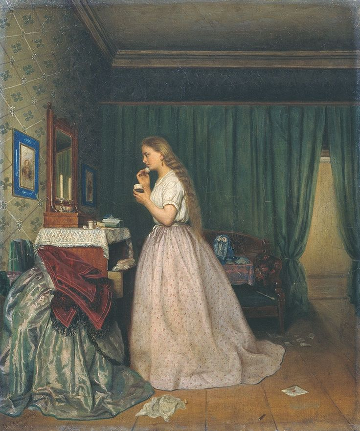 Тимофеев Василий Тимофеевич - Туалет девушки, 1865