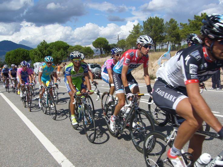 pro rider show in La Vuelta