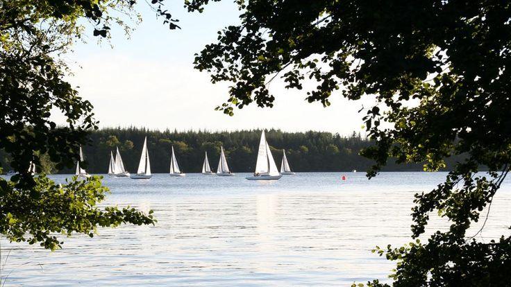 Sejlbåde på Silkeborg Søerne / Sailing boats on the Silkeborg Lakes