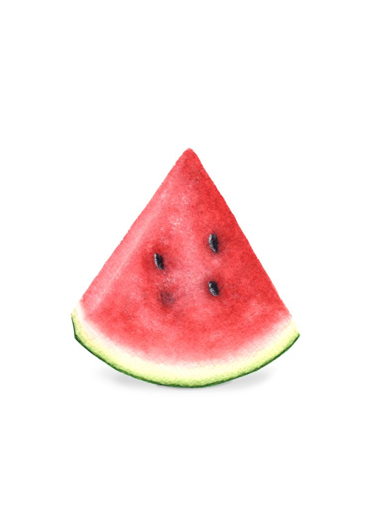 Day 19 - Watermelon Slice. When I think of watermelon, Christmas by the pool side comes to mind. Watermelon in Japan is rather pricey, so I only buy it for a special treat.