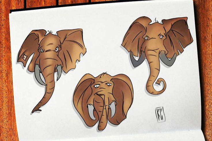 elephant, Skeatch, Digital, 2D, Animation, Comic, Art, animation, Skeatch, Skeatchbook, animal, art, grafity