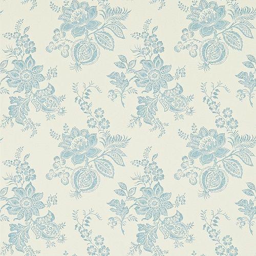 Sanderson Fabienne Wallpaper Collection Lyon in Cream / Wedgwood wallpaperdirect