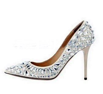 » Jeweled Beaded Wedding High Heel Shoes