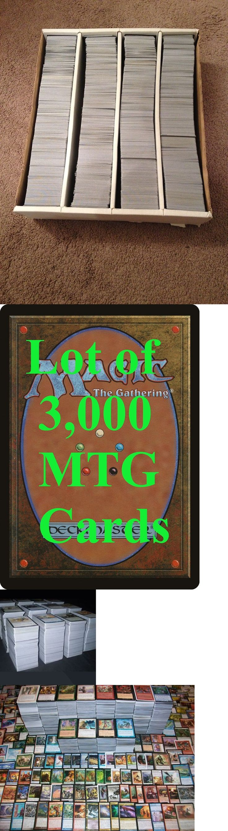 MTG Mixed Card Lots 19113: 3,000+ Random Magic The Gathering Cards - 3K Mtg Unsearched Cards Collection Lot -> BUY IT NOW ONLY: $79.99 on eBay!