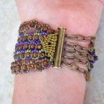 Lavender Equinox Bracelet Clasp by The Beading Yogini