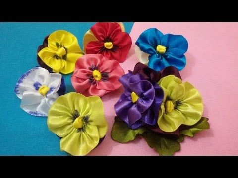 D.I.Y. Satin Pansy Flower Tutorial - YouTube