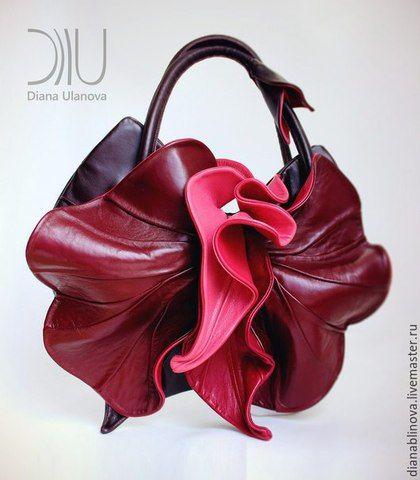Женские сумки ручной работы. Ярмарка Мастеров - ручная работа. Купить Орхидея NEWбордо. Handmade. Бордовый, орхидея, сумка кожаная