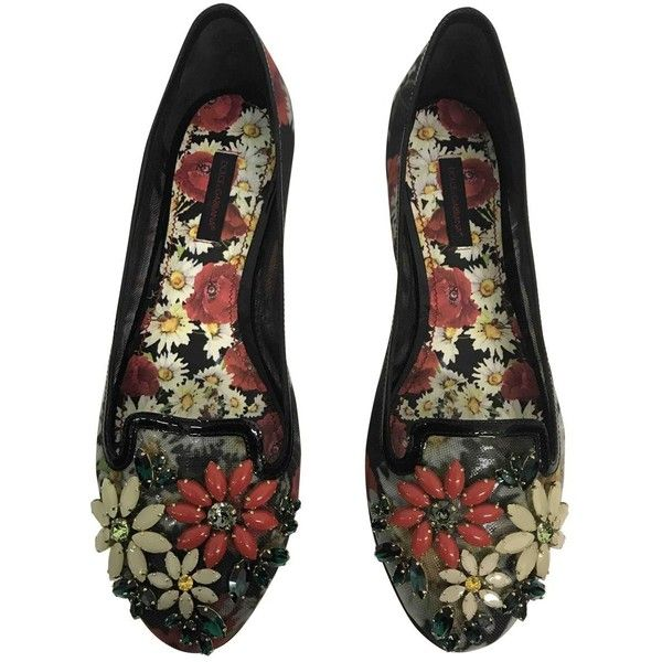Pre-owned Dolce & Gabbana Ballet Flats ($318) ❤ liked on Polyvore featuring shoes, flats, multicolour, women shoes ballet flats, multi color shoes, ballerina shoes, multi colored shoes, colorful flats and ballet pumps