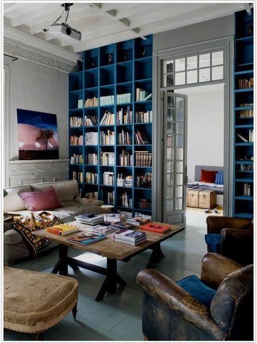 Bring it Home :: Moody Blue (Bookshelves) on imgfave