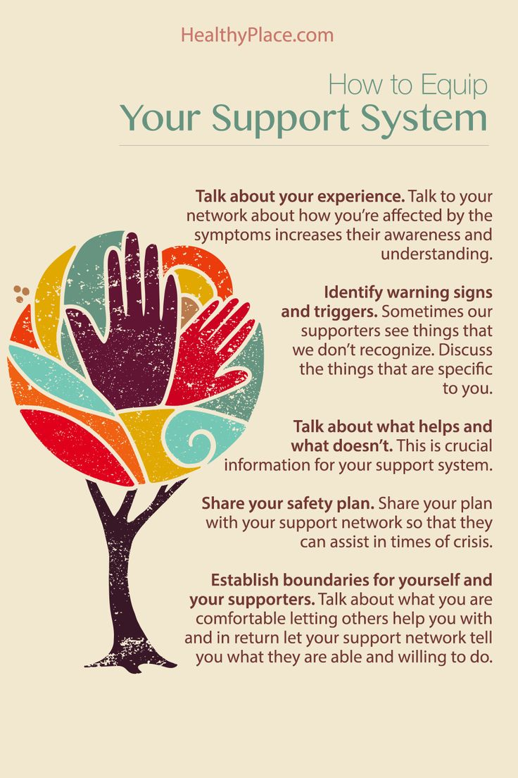 """""""Teaching your support system for bipolar disorder about your experience can help them support you better in your times of need. Here's how."""" www.HealthyPlace.com"""