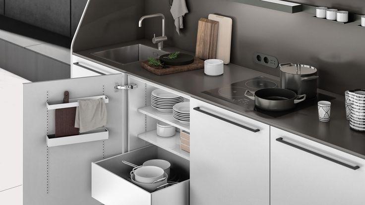SieMatic MultiMatic - aménagement intérieur pour les meubles hauts et bas de cuisine