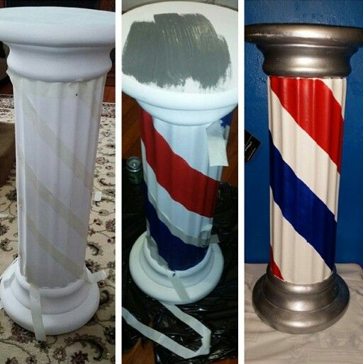 BARBER~DIY BARBER POLE