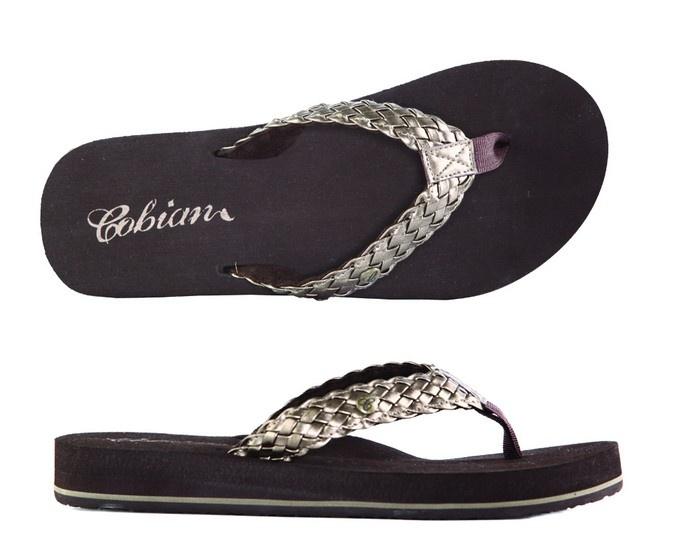 Cobian Sandals Women's Braided Bounce Bronze Sandals Flip Flops