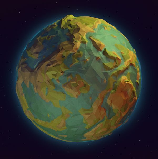 Low Poly Planet (1/26/14) on Behance